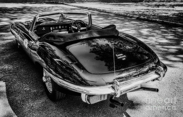 Exhaust Digital Art - Jaguar E-type 4.2 by Adrian Evans