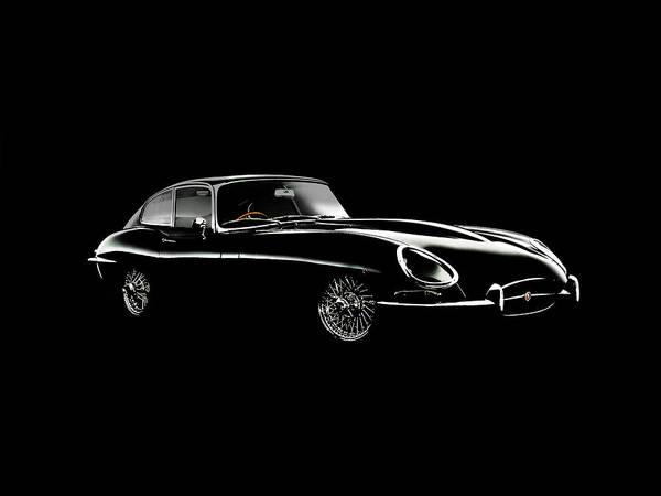 Wall Art - Photograph - Jaguar E Type Black Edition by Mark Rogan