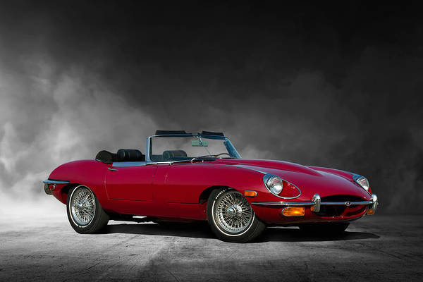 Wall Art - Digital Art - Jaguar E Type by Peter Chilelli