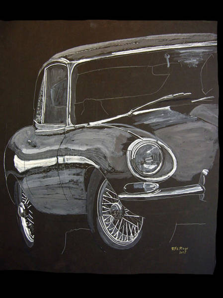 Painting - Jaguar E Type by Richard Le Page