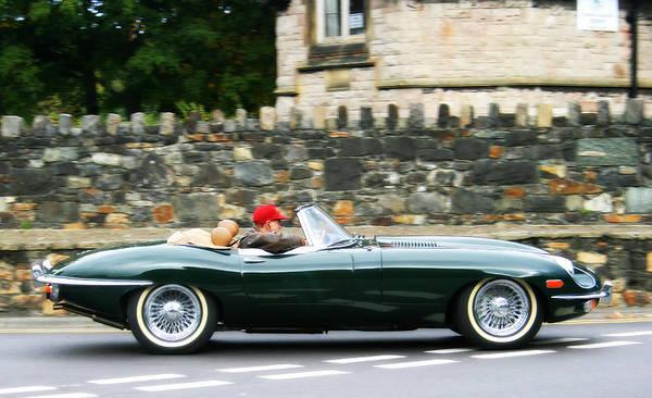 Vintage Conway Photograph - Jaguar E-type Sports Car by Georgia Fowler