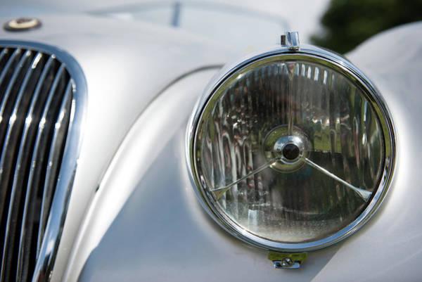 Photograph - Jaguar Head Lamp by Helen Northcott