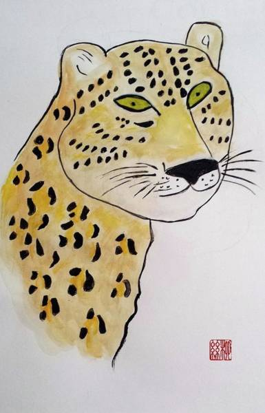 Painting - Jaguar Man by Margaret Welsh Willowsilk