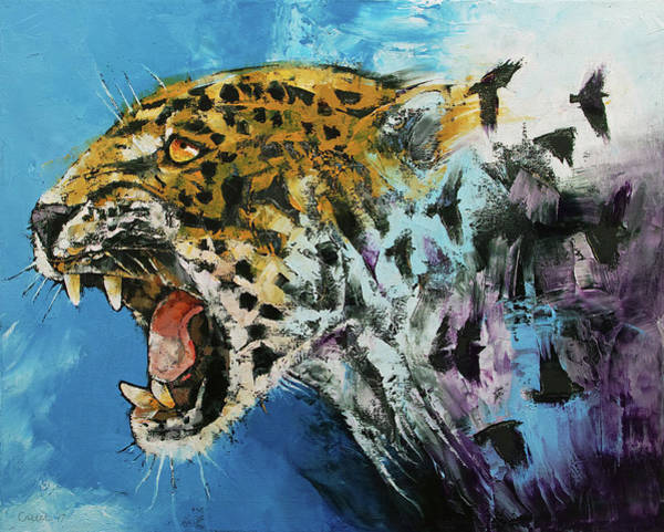 Jaguar Painting - Jaguar by Michael Creese