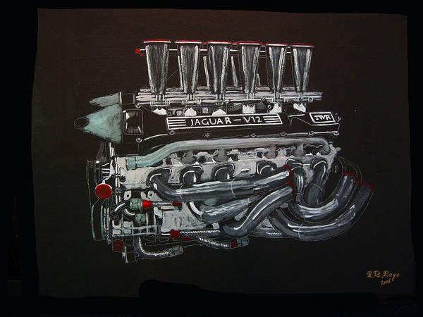Painting - Jaguar V12 Twr Engine by Richard Le Page