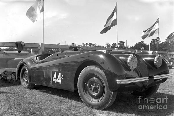 Photograph -  Jaguar Xk120 Is A Sports Car Manufactured By Jaguar Circa 1953 by California Views Archives Mr Pat Hathaway Archives