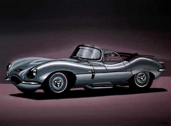 Roadster Wall Art - Painting - Jaguar Xkss 1957 Painting by Paul Meijering