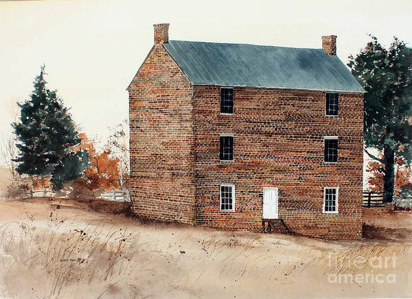 Painting - Jail At Appomattox by Monte Toon