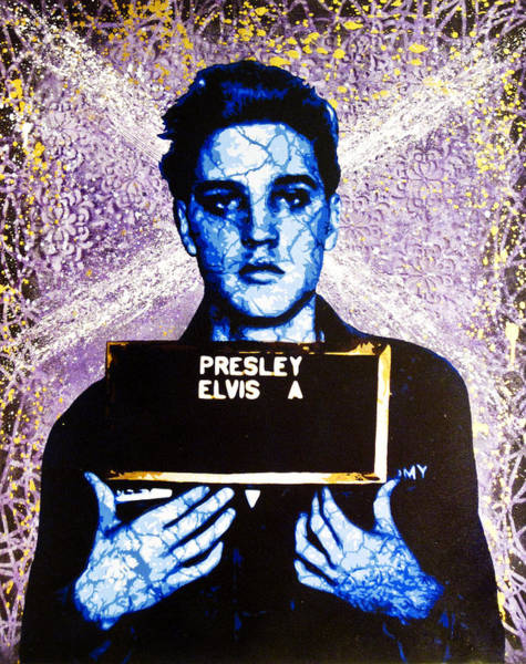 Obey Painting - Jailhouse Rock Alternate by Bobby Zeik