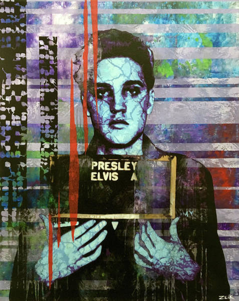 Obey Painting - Jailhouse Rock Le by Bobby Zeik