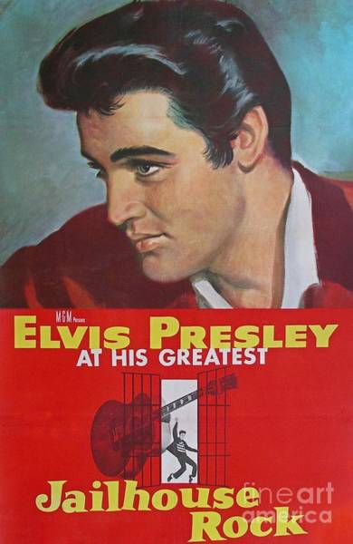Wall Art - Painting - Jailhouse Rock Poster by Pd
