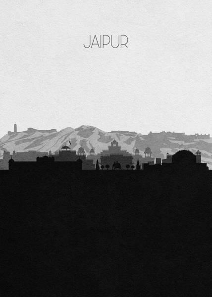 Souvenir Digital Art - Jaipur Cityscape Art by Inspirowl Design