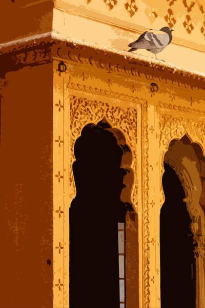 Saffron Digital Art - Jaisalmer Haveli by Cinnabar and Saffron