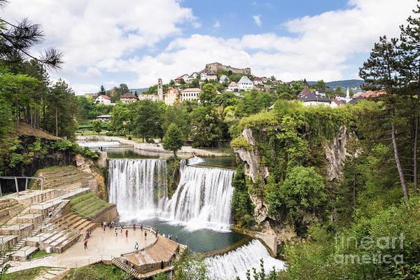 Photograph - Jajce Waterfall In Bosnia by Didier Marti