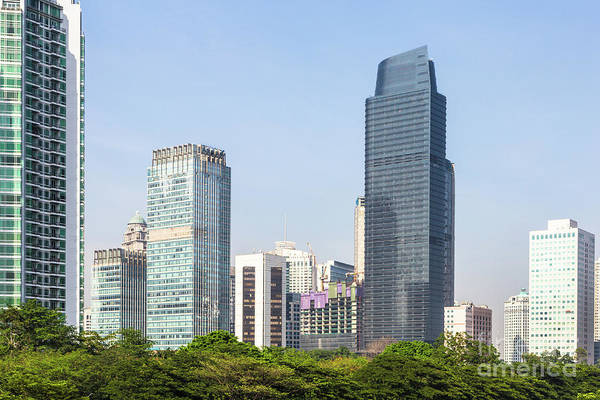 Photograph - Jakarta Business District In Indonesia Capital City by Didier Marti