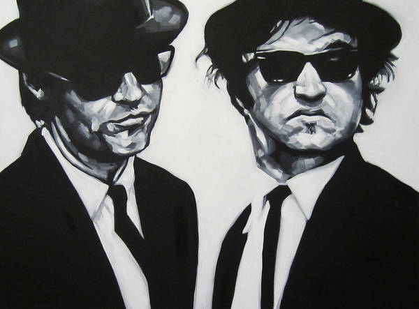 The Blues Brothers Painting - Jake And Elwood by Steve Hunter