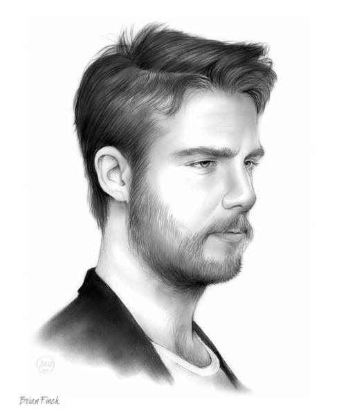 Ancient Drawing - Jake Mcdorman by Greg Joens