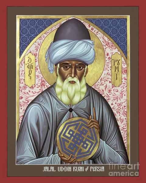 Painting - Jalal Ud-din Rumi Of Persia - Rljur by Br Robert Lentz OFM