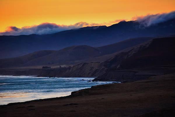Photograph - Jalama Beach Mountain Sunset by Kyle Hanson