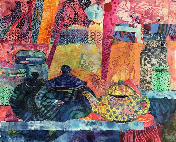 Jam Painting - Jam And Tea by Edie Cohn