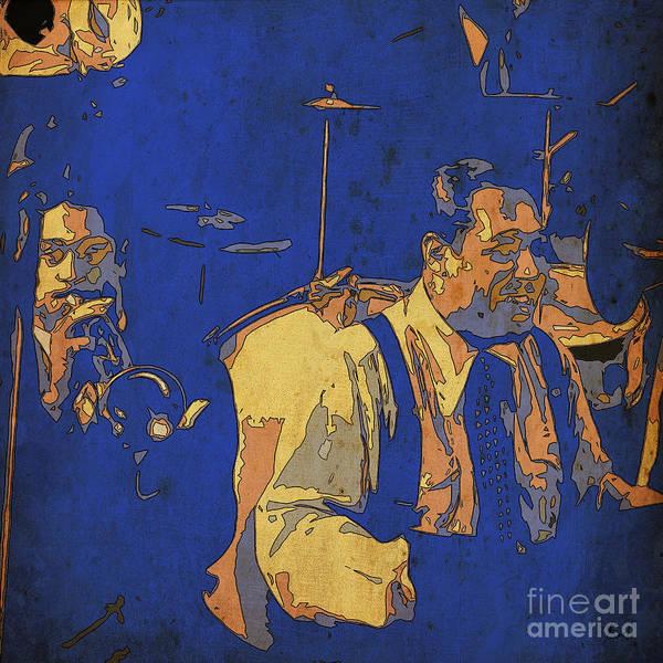 Wall Art - Digital Art - Jam Session 03 - Jazz Musicians by Drawspots Illustrations