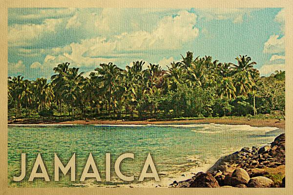 Jamaica Digital Art - Jamaica Travel Poster - Vintage Travel by Flo Karp