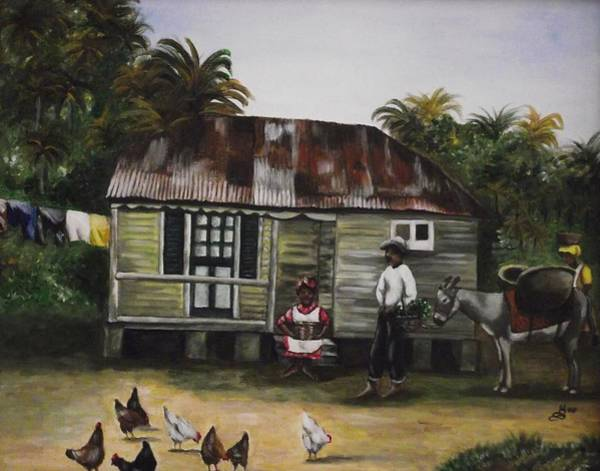 Wall Art - Painting - Jamaican Homestead by Kim Selig