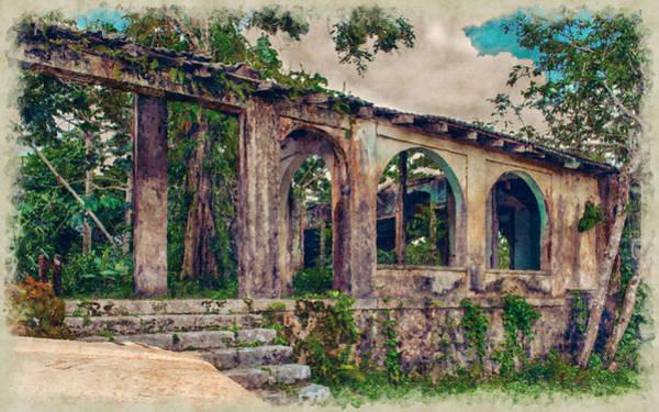 Photograph - Jamaican Plantation Ruins by John M Bailey