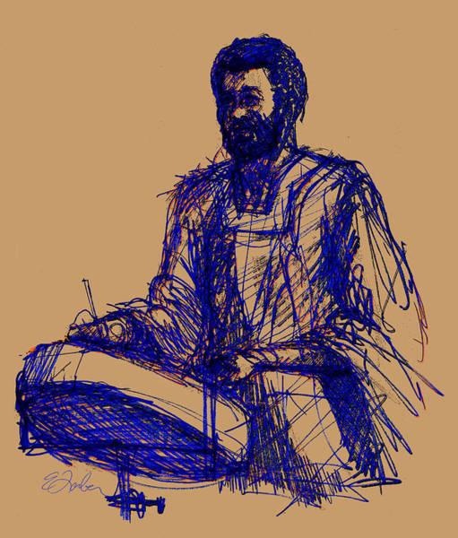 Jamaica Digital Art - Jamaican Steel Drum Player by Edward Farber