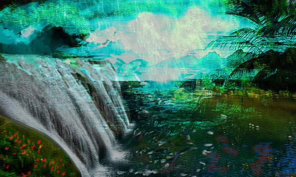 Painting - Jamaican Waterfall by Paul Sutcliffe