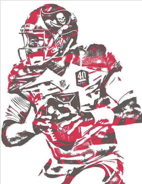 Wall Art - Mixed Media - Jameis Winston Tampa Bay Buccaneers Pixel Art 5 by Joe Hamilton