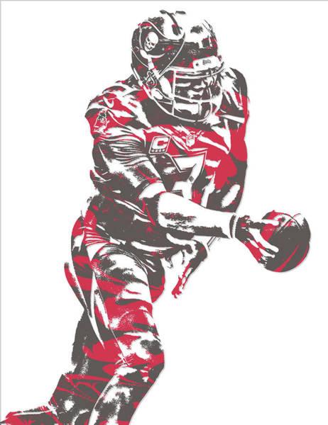 Wall Art - Mixed Media - Jameis Winston Tampa Bay Buccaneers Pixel Art 6 by Joe Hamilton