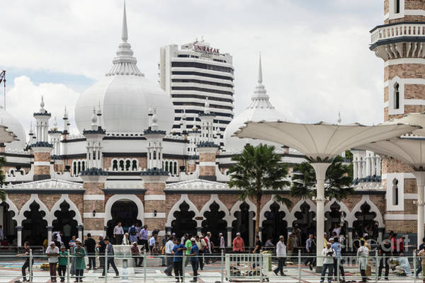 Photograph - Jamek Mosque In The Heart Of Kuala Lumpur Business And Financial by Didier Marti