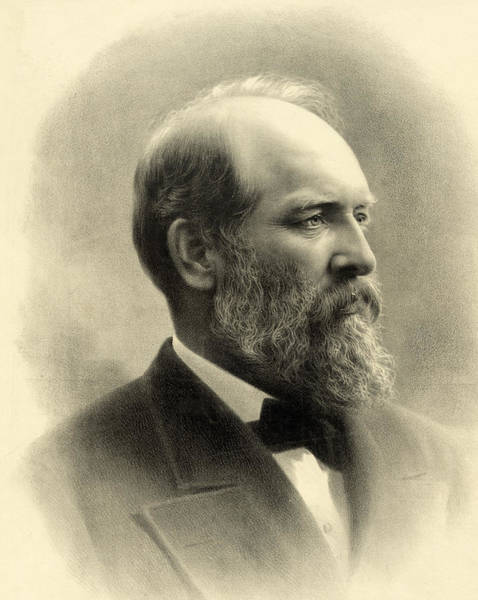 Wall Art - Photograph - James A Garfield - President Of The United States Of America by International  Images