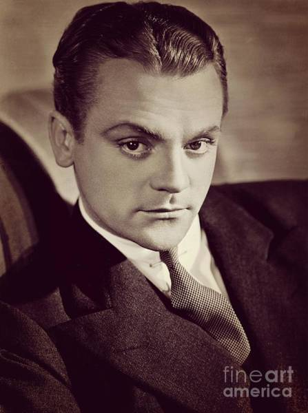 Wall Art - Photograph - James Cagney, Vintage Movie Star by Esoterica Art Agency
