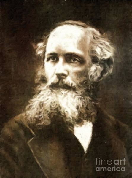Poetry Painting - James Clerk Maxwell, Scientist By Mary Bassett by Mary Bassett