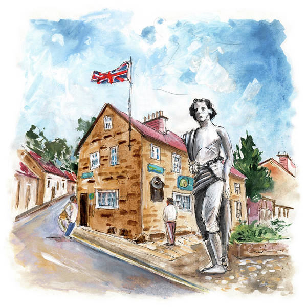 Wall Art - Painting - James Cook In Great Ayton by Miki De Goodaboom