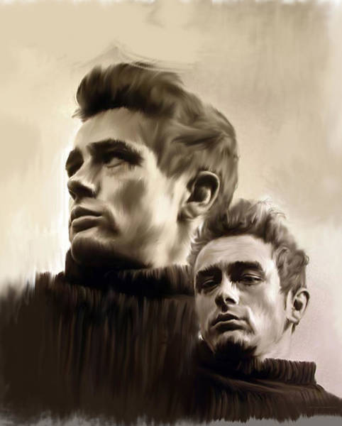 Painting - James Dean  Duality II by Iconic Images Art Gallery David Pucciarelli