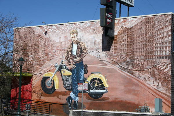 Wall Art - Photograph - James Dean In Video One Mural, Denver by Beth Partin
