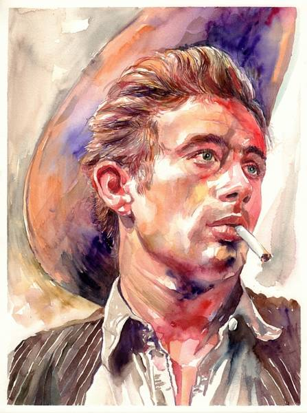 Wall Art - Painting - James Dean Portrait by Suzann Sines