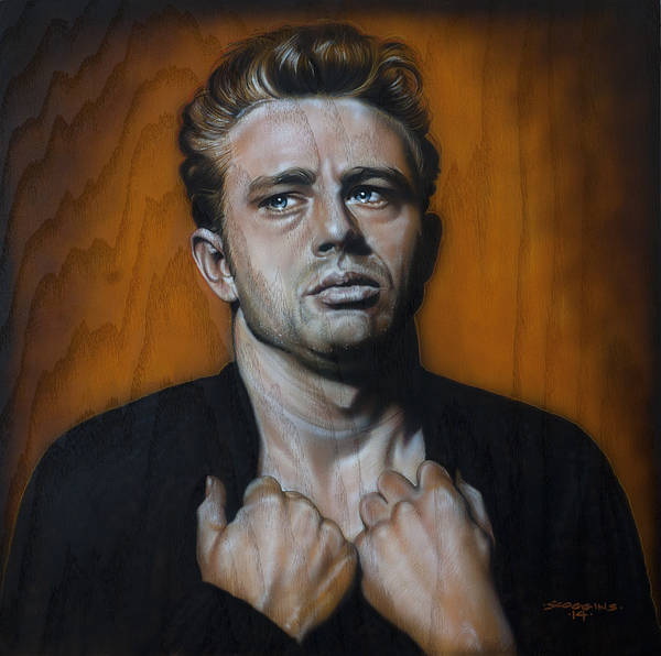 Wall Art - Painting - James Dean by Timothy Scoggins