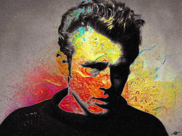Mixed Media - James Dean by Tony Rubino