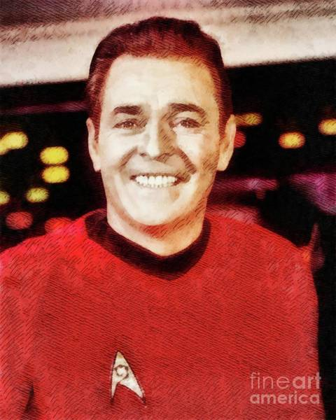 Scotty Wall Art - Painting - James Doohan, Actor by John Springfield