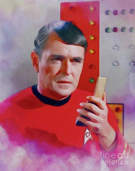 Scotty Wall Art - Painting - James Doohan As Scotty by John Springfield