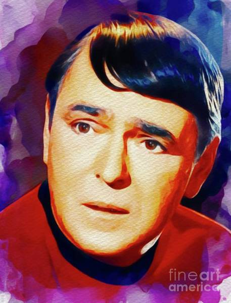 Scotty Wall Art - Painting - James Doohan, Vintage Actor by John Springfield