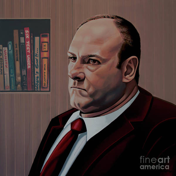 3 Wall Art - Painting - James Gandolfini Painting by Paul Meijering