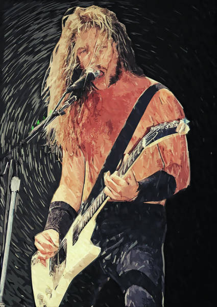 Thrash Metal Wall Art - Digital Art - James Hetfield by Zapista Zapista