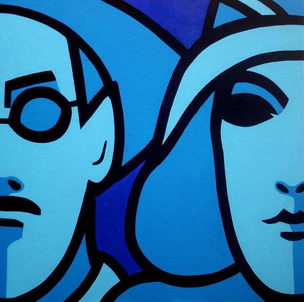 Monochromatic Painting - James Joyce And Nora Barnacle by John  Nolan
