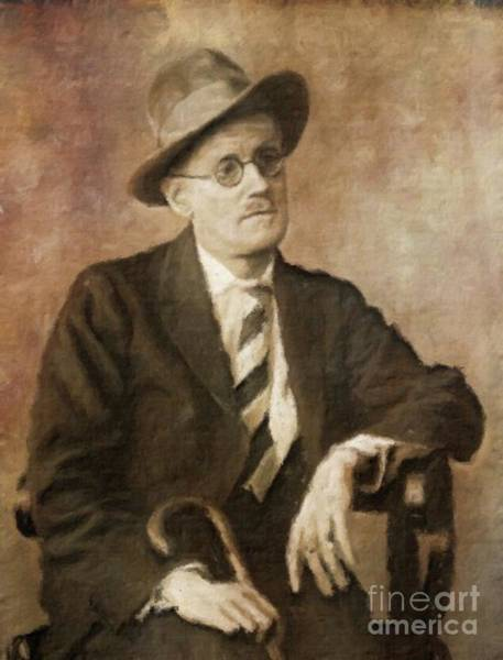 Poetry Painting - James Joyce, Literary Legend By Mary Bassett by Mary Bassett