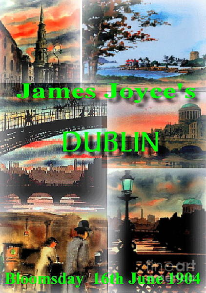 Painting - James Joyce's Dublin by Val Byrne